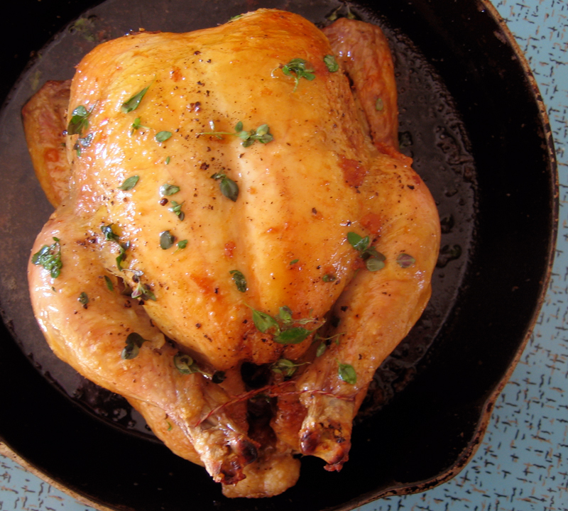 via epicurous my favorite simple roast chicken one 2 to